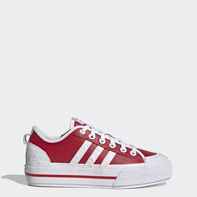 Dames Originals rood Nizza RF Platform Schoenen