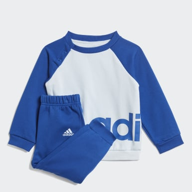 Infants Lifestyle Blue Linear Fleece Jogger Set