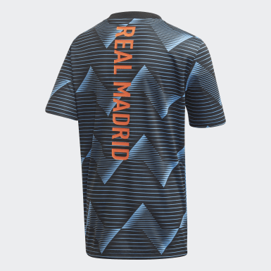 Camiseta calentamiento Real Madrid Azul Niño Fútbol