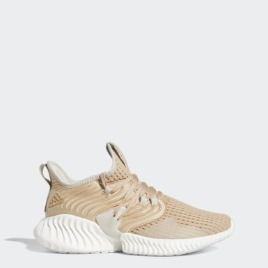 Women Running Beige Alphabounce Instinct Clima Shoes
