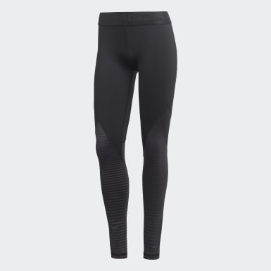 Women Training Black Alphaskin Sport Climawarm Tights