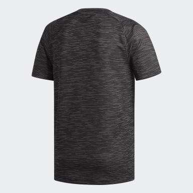 Playera FreeLift Tech Fitted Striped Heathered Negro Hombre Training