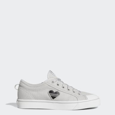 Women's Originals Grey Nizza Trefoil Shoes