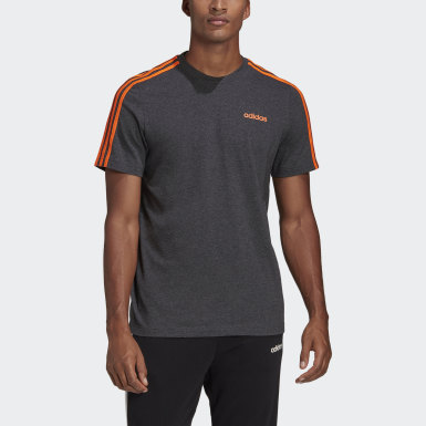 Polera 3 Tiras Essentials Gris Hombre Training
