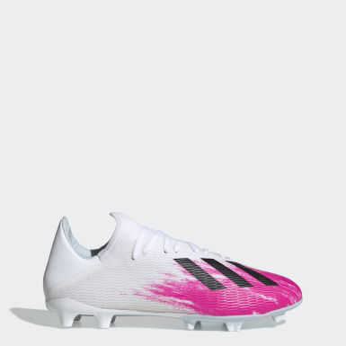 Fodbold Hvid X 19.3 Firm Ground støvler