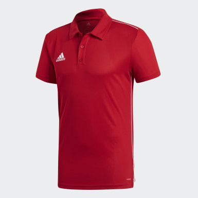 Men Football Red Core 18 Climalite Polo Shirt
