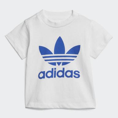 Zestaw szorty i koszulka Trefoil Bialy