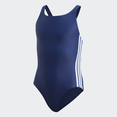 Strój do pływania Athly V 3-Stripes Niebieski