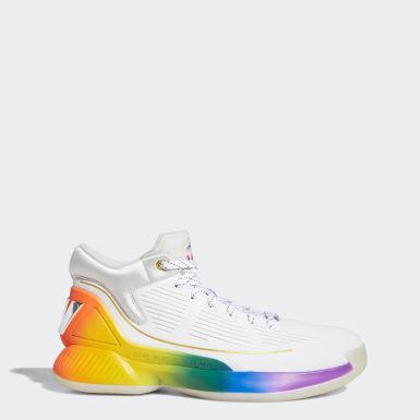 ผู้ชาย บาสเกตบอล สีขาว รองเท้า D Rose 10 Pride