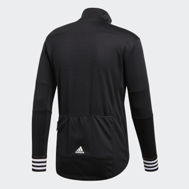 Men's Cycling Black Adistar Over Long Sleeve Cycling Jersey