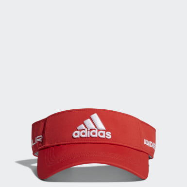 Men Golf Red Tour Visor