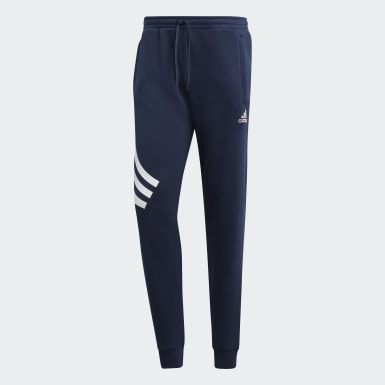 Men Football Blue TAN Graphic Joggers