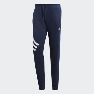 Mænd Fodbold Blå TAN Graphic joggingbukser
