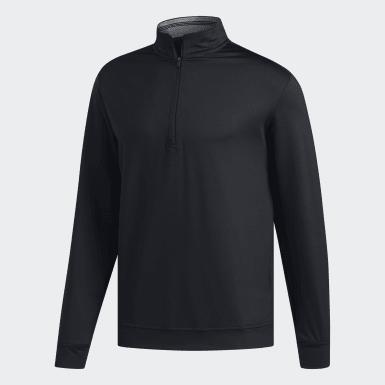 Men Golf Black Classic Club 1/4 Zip Sweatshirt
