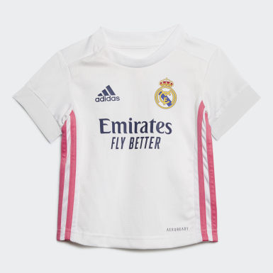 Kinderen Voetbal Wit Real Madrid 20/21 Baby Thuistenue