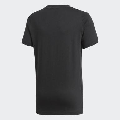 Camiseta Essentials Logo Negro Niño Athletics