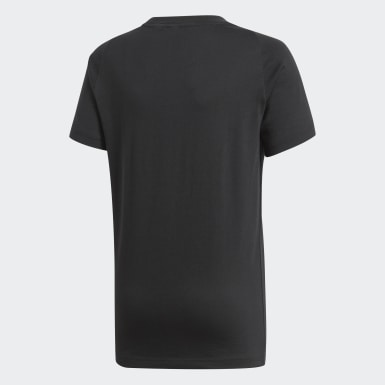 Boys Athletics Black Essentials Logo Tee