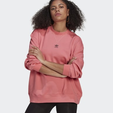 Women Originals Pink LOUNGEWEAR Adicolor Essentials Sweatshirt