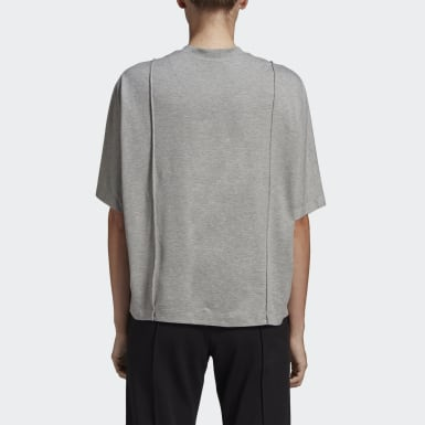 Frauen Y-3 Y-3 Classic Tailored T-Shirt Grau