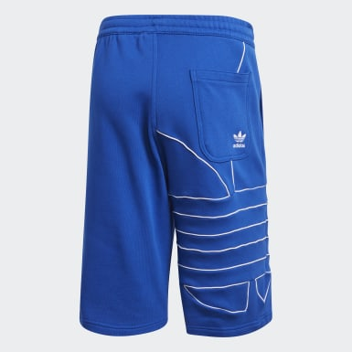 Short Big Trefoil Sweat Blu Uomo Originals