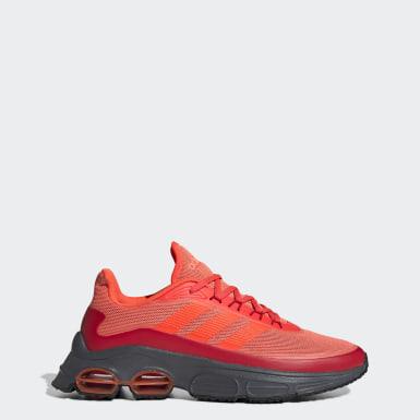 Men Sport Inspired Orange Quadcube Shoes
