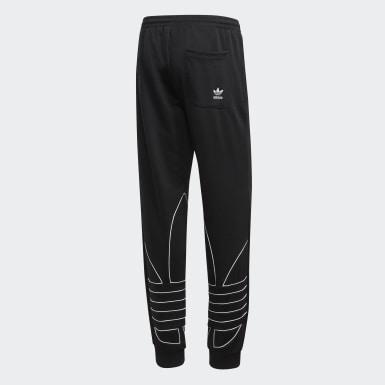 Muži Originals černá Sportovní kalhoty Big Trefoil Outline