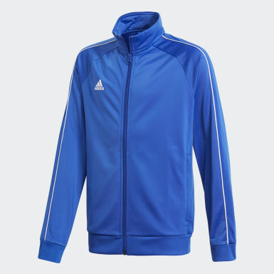 Kinder Training Core 18 Jacke Blau
