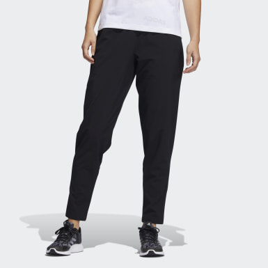 Women Training Black Woven Training Pants