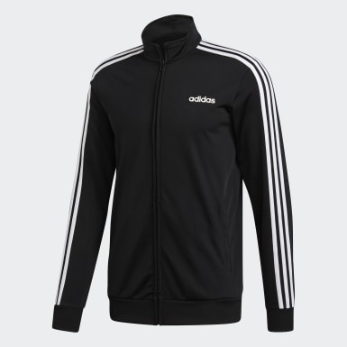 Track jacket Essentials 3-Stripes Tricot Nero Uomo Training
