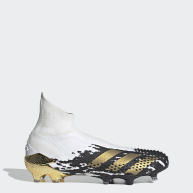 Men Soccer White Predator Mutator 20+ Firm Ground Cleats