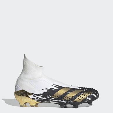 Erkek Futbol Beyaz Predator Mutator 20+ Çim Saha Kramponu