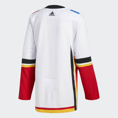 Hockey White Flames Away Authentic Pro Jersey