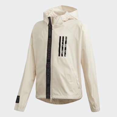 Kids Training Beige Parley Windbreaker