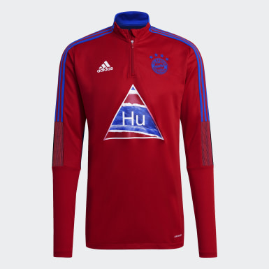 Men Soccer Red FC Bayern Human Race Training Top