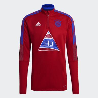 Haut d'entraînement FC Bayern Human Race rouge Hommes Soccer