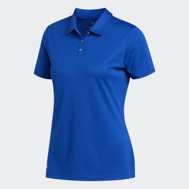 Women Golf Blue Tournament Polo Shirt