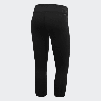 Mallas 3/4 Design 2 Move Colorblock - Corte Medio Negro Mujer Training