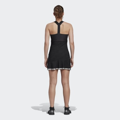 Frauen Tennis GLAM ON TENNIS Y-Kleid Schwarz