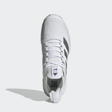 Men Tennis White Adizero Ubersonic 4 Parley Hard Court Tennis Shoes