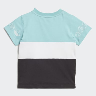 Kinder Originals Panel T-Shirt Blau