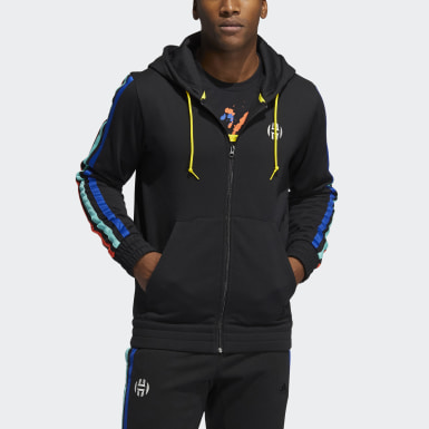 Felpa con cappuccio Harden Fleece Full-Zip Nero Uomo Basket