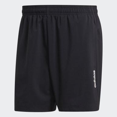 Männer Training Essentials Plain Chelsea Shorts Schwarz