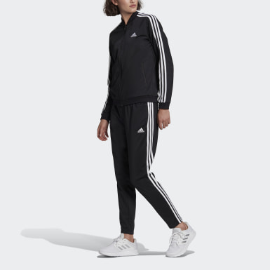 Women Sport Inspired Black Essentials 3-Stripes Track Suit