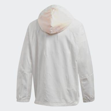 เด็กผู้ชาย เทรนนิง สีขาว เสื้อแจ็คเก็ต adidas W.N.D. Primeblue