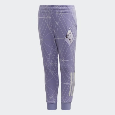 Kids 4-8 Years Training Purple Frozen 2 Slim Leg Joggers