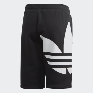 Kids Originals Black Big Trefoil Shorts