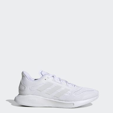 Women Running White Galaxar Run Shoes