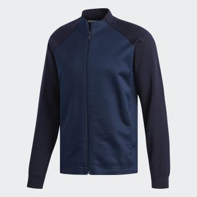 Mænd Golf Blå Adipure Bonded Knit jakke