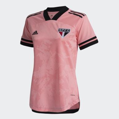 CAMISA SÃO PAULO FC OUTUBRO ROSA Rosa Mulher Futebol