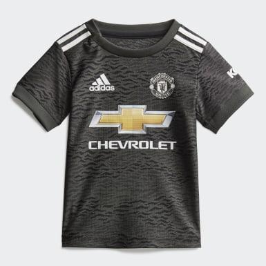 Kit Alternativo do Manchester United para Bebé Verde Criança Futebol